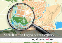 search at the Lagos land registry