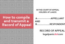 How to compile and transmit Record of Appeal